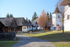 Pribylina - museo del aire abierto en la región Liptov, Eslovaquia Imagen de archivo libre de regalías