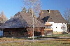 Pribylina - museo del aire abierto en la región Liptov, Eslovaquia Imágenes de archivo libres de regalías