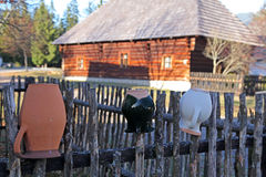 Pribylina - open air museum at region Liptov, Slovakia Stock Photos
