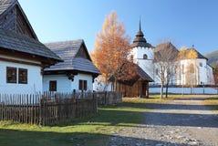 Pribylina - openluchtmuseum bij gebied Liptov, Slowakije Royalty-vrije Stock Foto's