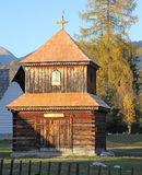 Pribylina - openluchtmuseum bij gebied Liptov, Slowakije Royalty-vrije Stock Foto