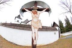 Pribylina - openluchtmuseum bij gebied Liptov, Slowakije Royalty-vrije Stock Afbeeldingen
