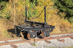 Pribylina - railway museum at region Liptov, Slovakia Stock Photo