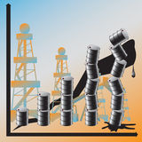 A price advance on oil conduces to the global cris Stock Photography