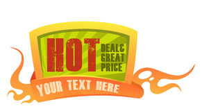 Price badge 3. Burning price badge, representing a hot deal or low price Royalty Free Stock Images