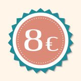 Price badge, icon, sticker layout Royalty Free Stock Photos