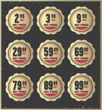 Price badges Royalty Free Stock Image