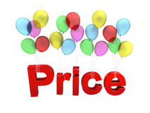 Price with balloon Stock Image