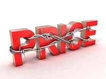 Price with barbed wire Royalty Free Stock Images