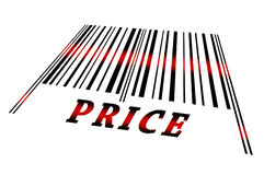 Price on barcode Stock Photos