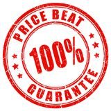 Price beat guarantee vector stamp. Isolated on white background Royalty Free Stock Photos