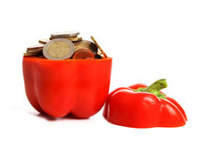 The price of bell peppers Royalty Free Stock Photography