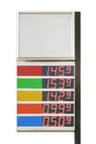 Price board. Gas petrol gasoline fuel station price board Stock Image