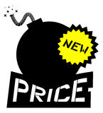 Price bomb Royalty Free Stock Photos