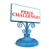Price challenge Royalty Free Stock Photos