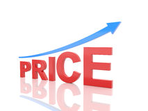 Price concept - 3D Rendering Image stock illustration
