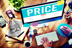 Price Cost Expense Money Rate Value Commerce Concept Royalty Free Stock Images