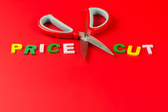 Price cut Royalty Free Stock Images