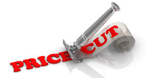 Price cut. Concept Stock Photography