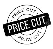 Price Cut rubber stamp Royalty Free Stock Photos