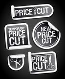 Price cut sale stickers Vector Illustration