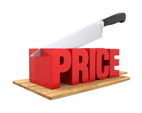 Price Cuts Concept. Isolated on white background. 3D render Royalty Free Stock Image