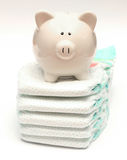 Price for Diapers Stock Image