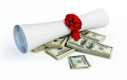 Price of diploma Royalty Free Stock Images