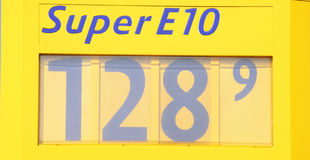 Price display at a petrol station Stock Photography