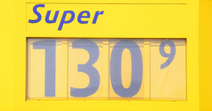 Price display at a petrol station Royalty Free Stock Image