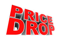 Price Drop Royalty Free Stock Photography