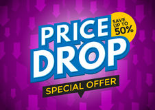 Price drop banner design Royalty Free Stock Images