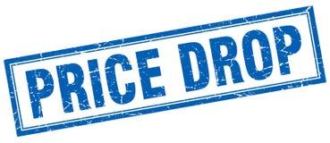 Price drop stamp. Price drop square grunge stamp. price drop sign. price drop stock illustration