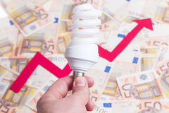 Price of electricity Stock Photography
