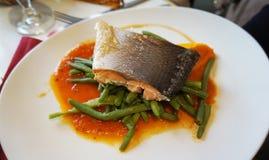 Price Fix Menu-Poached Salmon Stock Photography