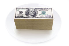 Price of food concept Royalty Free Stock Image