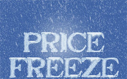 Price freeze royalty free stock photos