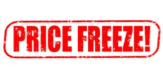 Price freeze! stamp. Price freeze red stamp on white Royalty Free Stock Images