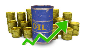 The price of fuel decreases Stock Images