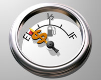 Price of gas Royalty Free Stock Photos
