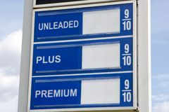 Price Of Gas Sign Royalty Free Stock Photo