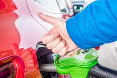 Price of gas is very low Royalty Free Stock Images