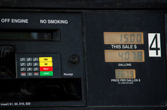 The price of gasoline in america Royalty Free Stock Photo