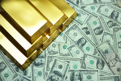 The price of gold Stock Photography