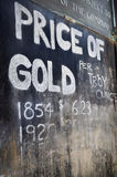Price of Gold Sign Royalty Free Stock Photo