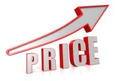 Price Growth with arrow symbol. Royalty Free Stock Photo
