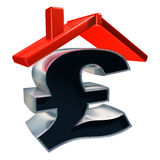 Price of a house Royalty Free Stock Image