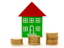 Price of houses rising Royalty Free Stock Image