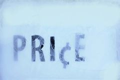 Price in the ice Royalty Free Stock Photography