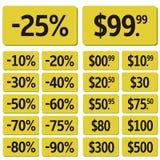 Price icon set Royalty Free Stock Photo